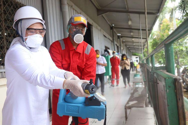 Kemenaker melibatkan pekerja korban PHK lakukan penyemprotan disinfektan