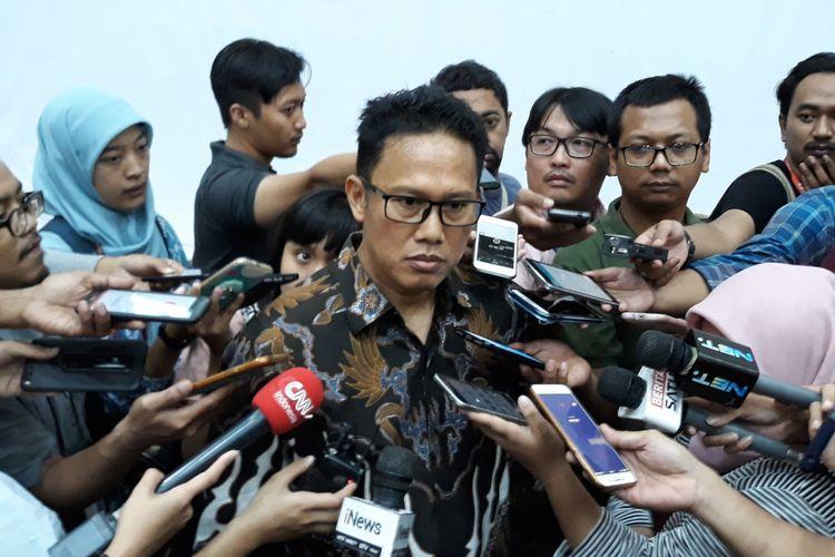 Direktur Penyidikan Komisi Pemberantasan Korupsi (KPK) Brigjen (Pol) Aris Budiman di Gedung KPK Jakarta, Jumat (6/4/2018).