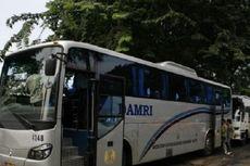 Bus Damri Terbakar di Bakauheni