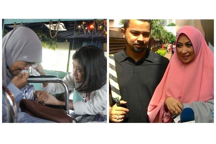 Kolase foto Amel dan ibunda Nike Ardilla, Nining Ningsihrat. Kemudian, pasangan Sultan Djorghi dan Annisa Trihapsari