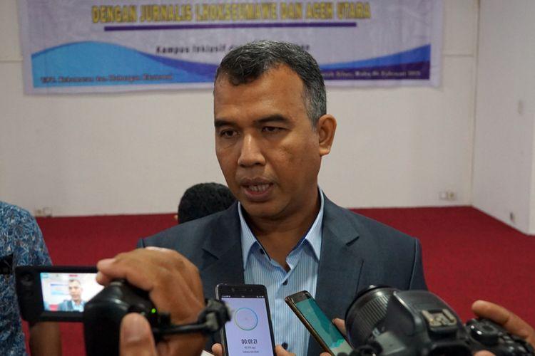 Rektor Universitas Malikussaleh (Unimal) Dr Herman Fithra di Lhokseumawe, Aceh, Kamis (7/2/2019)