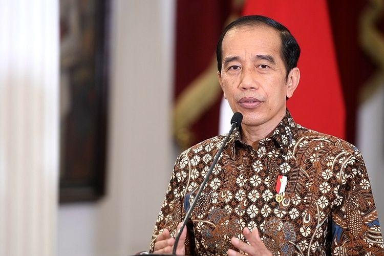 Presiden Joko Widodo di Istana Merdeka, Jakarta, Senin (30/8/2021).