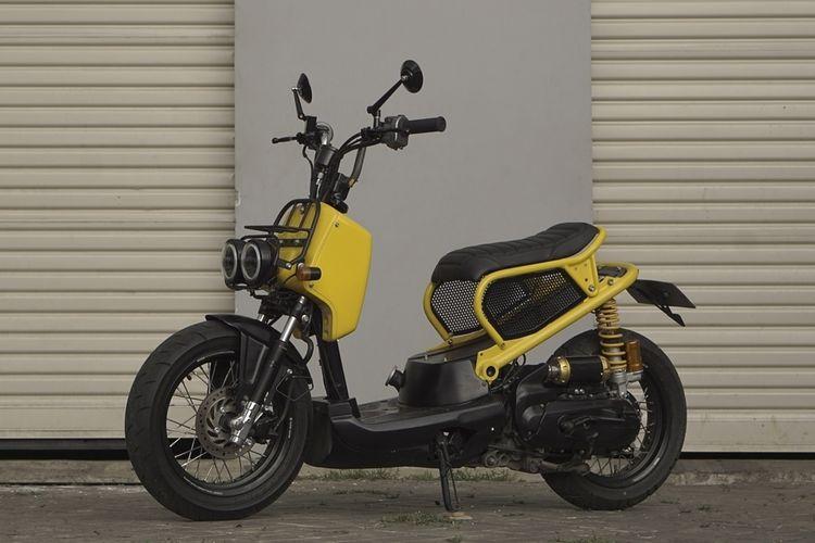 Honda Scoopy diubah jadi seperti Zoomer atau Ruckus, garapan Katros Garage