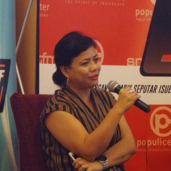Ahli Tata Hukum Negara, Bivitri Susanti dalam sebuah acara diskusi di Menteng, Jakarta Pusat, Sabtu (18/11/2017).