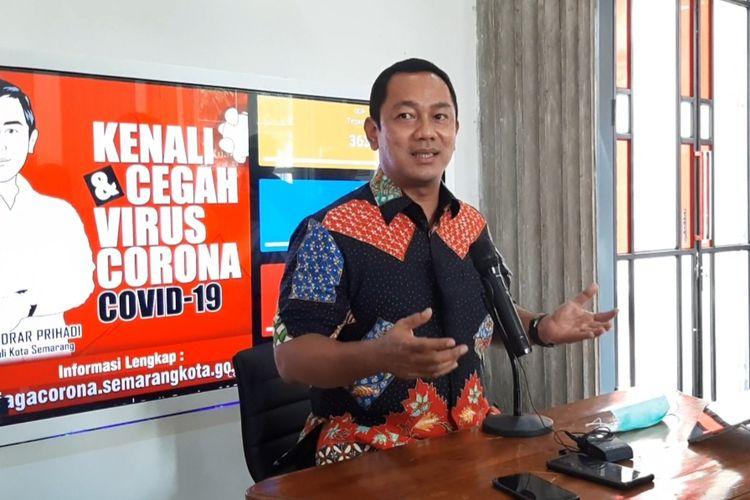 Wali Kota Semarang Hendrar Prihadi saat konferensi pers di kantor Balai Kota Semarang, Sabtu (20/6/2020).