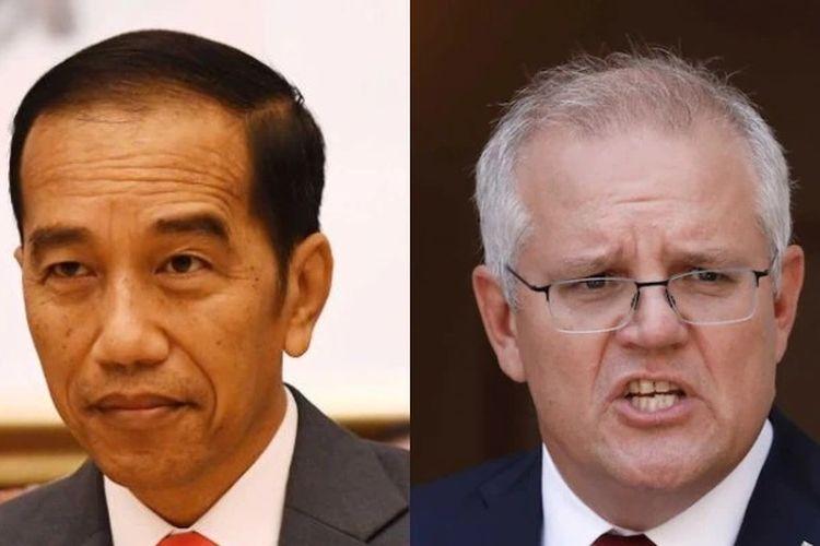 Presiden Indonesia Joko Widodo (kiri) dan Perdana Menteri Australia Scott Morrison.