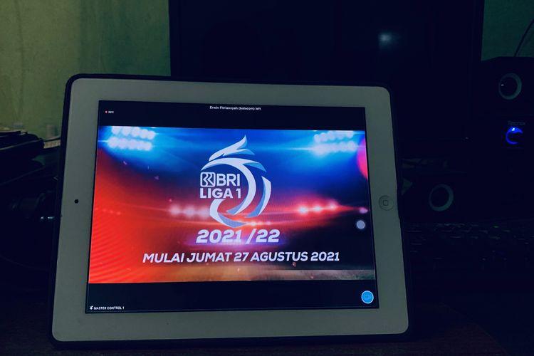 Liga 1 2021/2022 saat launching title, sponsor dan official secara virtual, Kamis (12/08/2021) sore.