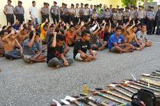 Polisi Lembata Sita 252 Senjata Tajam Milik Warga 2 Desa yang Bentrok