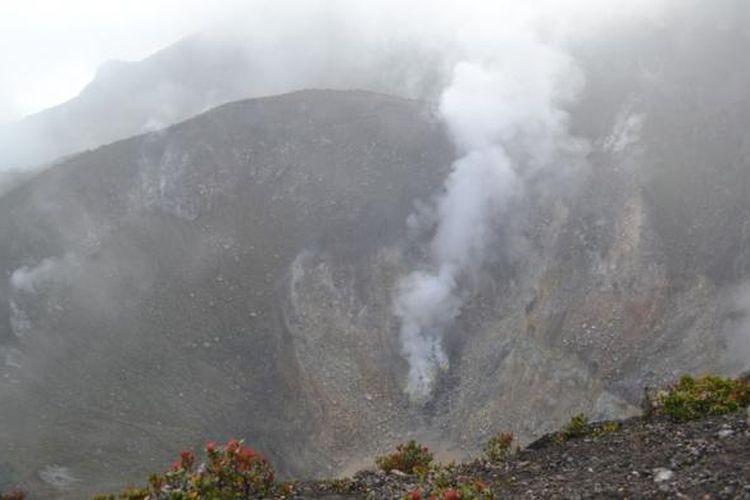 Kawah di Puncak Gunung Gede, Bogor, Jawa Barat