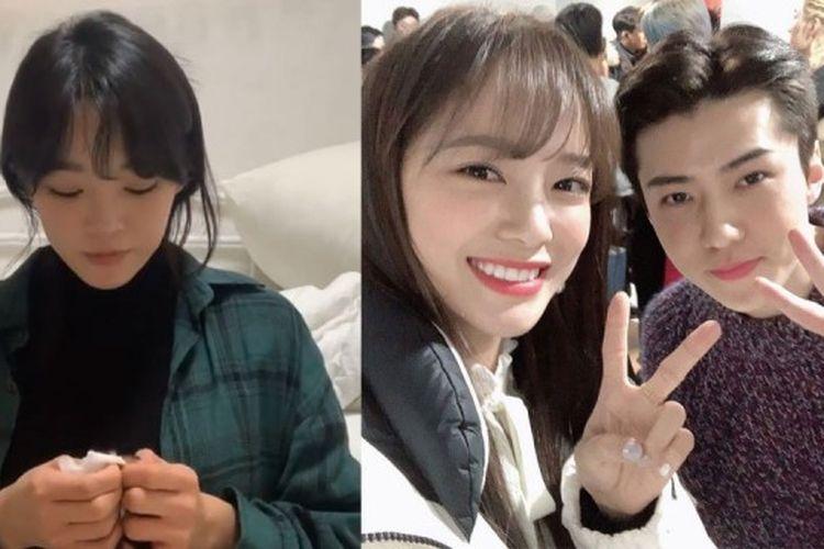 Kim Sejeong dan Sehun EXO