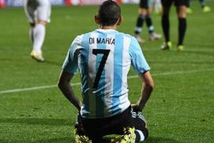 Gelandang serang Manchester United asal Argentina, Angel di Maria.