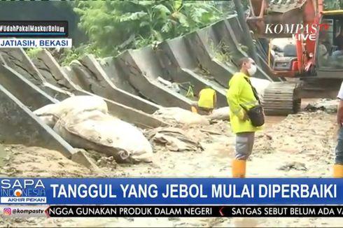 Banjir di Pondok Gede Permai Surut, Perbaikan Tanggul Jebol Mulai Dilakukan