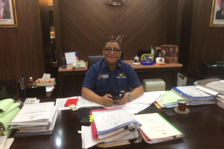 Sekretaris Jenderal Kemensos RI Hartono Laras Kantor Kemensos RI, Salemba, Jakarta Pusat.