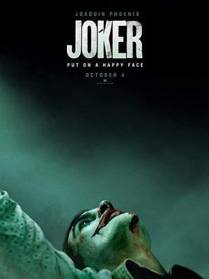 Poster film Joker yang dibintangi Joaquin Phoenix.