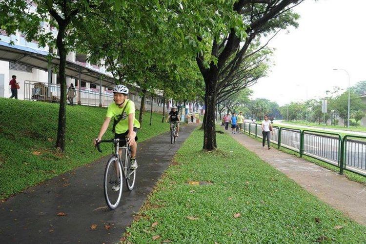 Jalur sepeda di Singapura