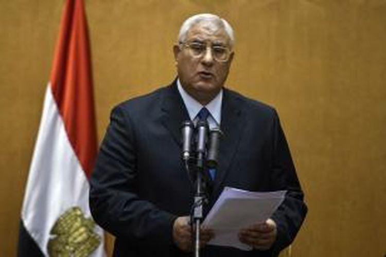 Presiden Interim Mesir, Adli Mansour.