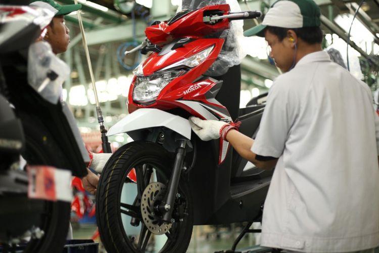 Ekspor motor Honda di kuartal pertama 2018 melonjak.
