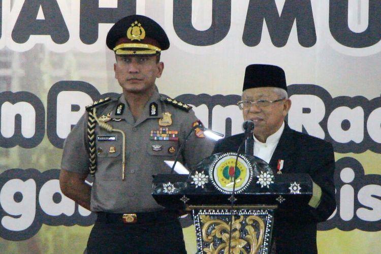 Wakil Presiden Maruf Amin saat menyampaikan kuliah umum di Universitas Mataram