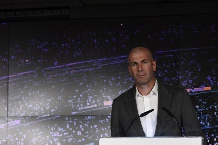 Zinedine Zidane diperkenalkan kembali sebagai pelatih Real Madrid pada Senin, 11 Maret 2019.