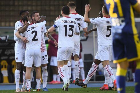 Hasil Verona Vs AC Milan - Rossoneri Curi 3 Poin, Dekati Inter Milan