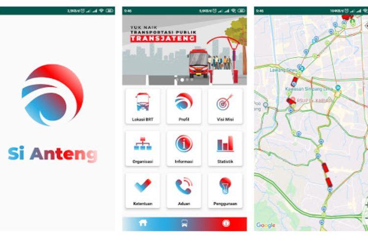 Ilustrasi tampilan aplikasi Si Anteng
