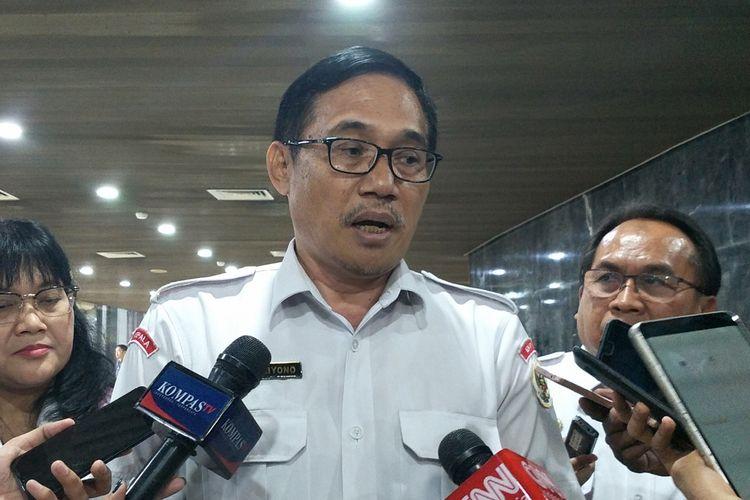 Pelaksana tugas (Plt) Kepala Badan Pembinaan Ideologi Pancasila (BPIP) Hariyono di Kompleks Parlemen, Senayan, Jakarta, Senin (25/11/2019).
