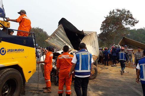 2 Sopir Dump Truck Jadi Tersangka Kecelakaan Tol Purbaleunyi
