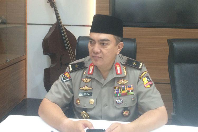 Kepala Biro Penerangan Masyarakat Divisi Hubungan Masyarakat Polri Brigadir Jenderal Polisi Mohammad Iqbal saat ditemui di Markas Besar Polri, Jakarta, Jumat (27/7/2018).