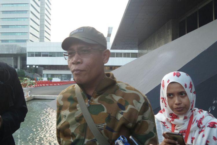 Anggota Komisi III DPR dari Fraksi PDIP Masinton Pasaribu di Kompleks Parlemen, Senayan, Jakarta, Jumat (7/7/2017).
