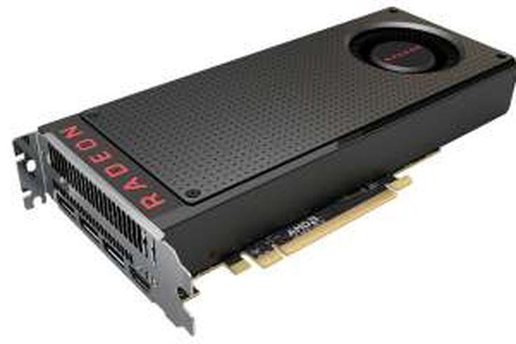 Kartu grafis AMD Radeon RX 480, produk pertama berbasis GPU Polaris yang digadang-gadang akan memasyarakatkan Virtual Reality