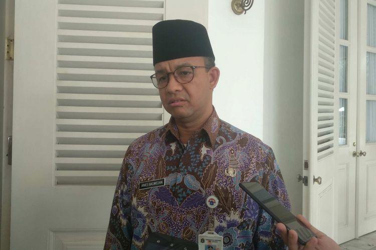 Gubernur DKI Jakarta Anies Baswedan di Balai Kota DKI Jakarta, Jumat (29/6/2018).