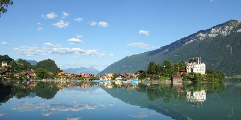Tempat wisata di Swiss - Danau Brienz.