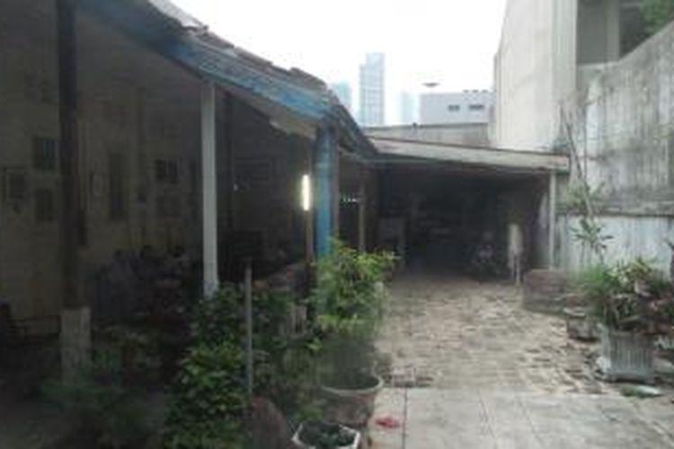 Kondisi terkini rumah Diana di Jalan Taman Kebon Sirih III, Nomor 9, Kampung Bali, Tanah Abang, Jakarta Pusat itu, Selasa (12/1/2016). Diana merupakan warga yang rumahnya sempat disegel oleh PT Asuransi Jiwasraya.