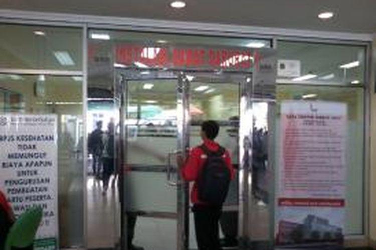 Ruang masuk Instalasi Gawat Darurat (IGD) Rumah Sakit Umum Daerah Tarakan, Tanah Abang Jakarta Pusat.