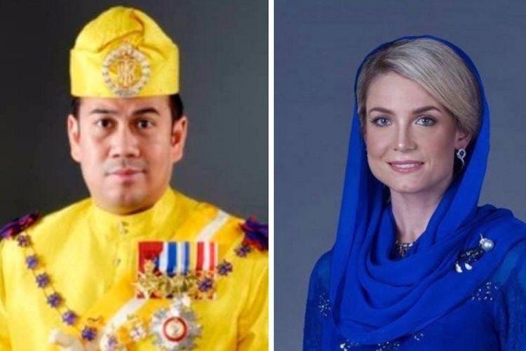 Putra Mahkota Kelantan Tengku Muhammad Faiz Petra (kiri) dan calon pasangannya, Sofie Louise Johansson, asal Swedia.
