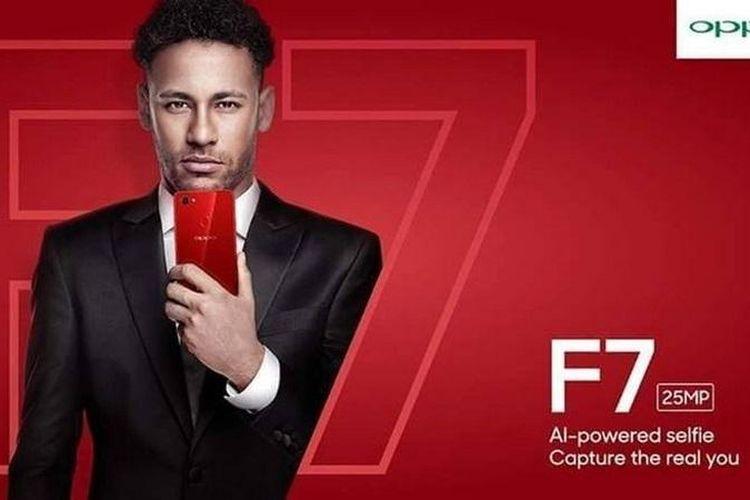 Neymar Jr sebagai duta Oppo.