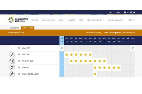 Jadwal Pertandingan Atlet Indonesia di Asian Games pada 23 Agustus 2018