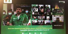 Airlangga Minta GP Anshor Kampanyekan Bahaya Covid-19 Melalui Kearifan Lokal