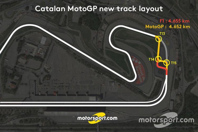Layout baru trek MotoGP sirkuit Barcelona-Catalunya 2017.