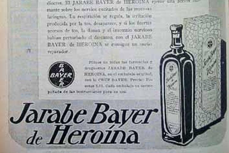 Heroin dipromosikan sebagai obat batuk