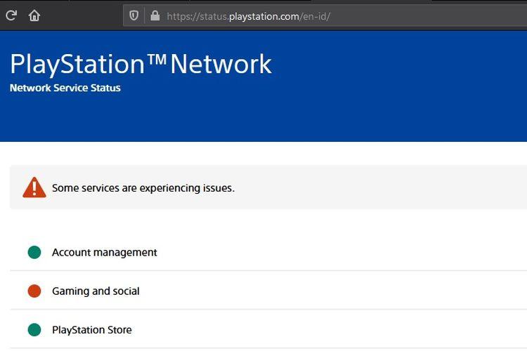 Layanan PlayStation Network dilaporkan tumbang pada akhir pekan.