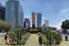 Patung Christopher Columbus Digantikan Sosok Wanita Pribumi di Meksiko untuk Dekolonisasi