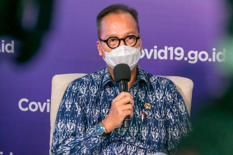 Menteri Perindustrian Agus Gumiwang Kartasasmita dalam suatu acara, di Jakarta, Selasa (10/11/2020).