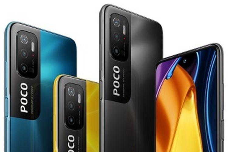 Poco M3 Pro 5G hadir dalam tiga varian warna, yakni Poco Yellow, Power Black, dan Cool Blue.