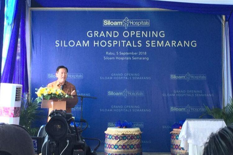 Peresmian Siloam Hospitals Semarang, Rabu (5/9/2018).