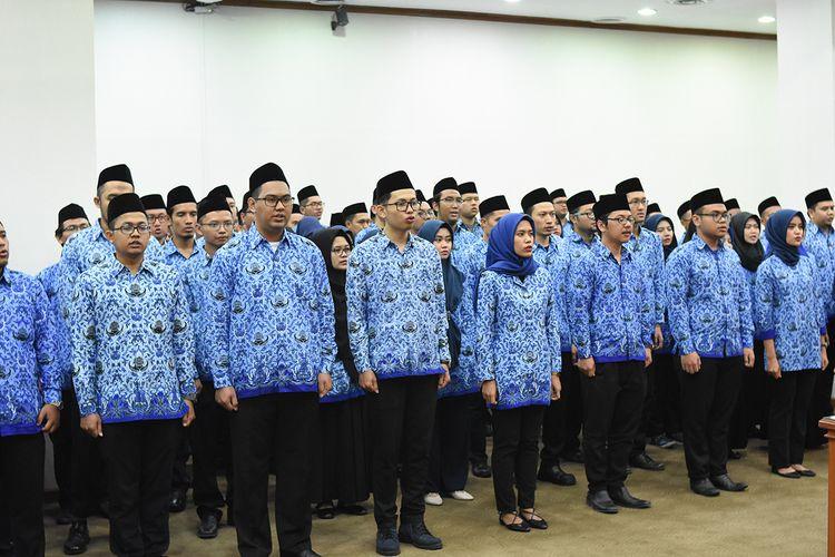 Para pegawai negeri di Kementerian Perindustrian. (Foto: Humas Kemenperin)
