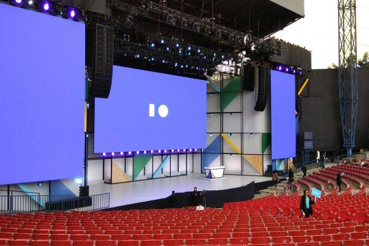 Ampitheater di ajang Google I/O di Mountain View, San Francisco AS