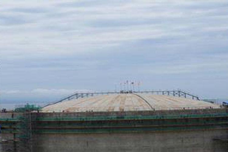 Ilustrasi pembangunan tangki LNG