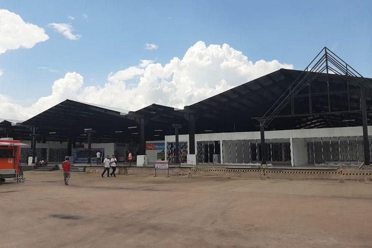 Pembangunan di Rest Area Km 215A Tol Terbanggi Besar-Pematang Panggang.
