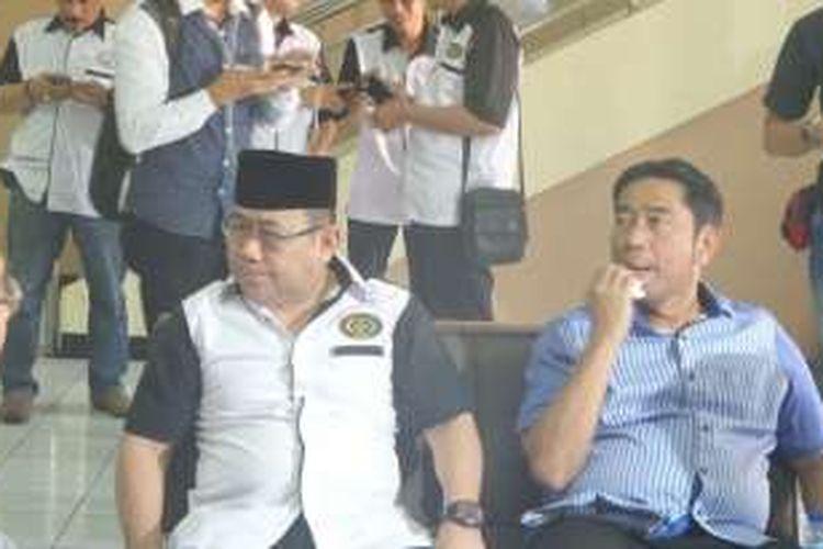 Ketua Forkabi Nachrowi Ramli dan Ketua DPD PPP DKI Abraham Lunggana di Gedung Joang 45, Jalan Menteng Raya, Kamis (15/9/2016).